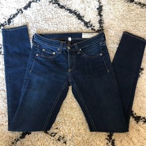 Rag & Bone Skinny Jeans Dark Wash 25